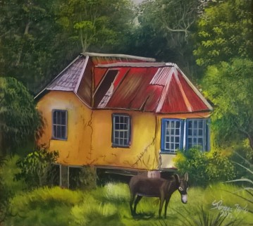 Jerome Taylor, House with Donkey