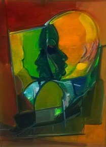 Richard Hall, Abstract with faces